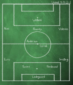 Manchester United versus Bolton Wanderers, Premier League, Old Trafford, Saturday 14 January 2012, 3pm