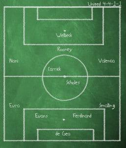 Chelsea verus Manchester United, Premier League, Stamford Bridge, 5 February 2012, 4pm.