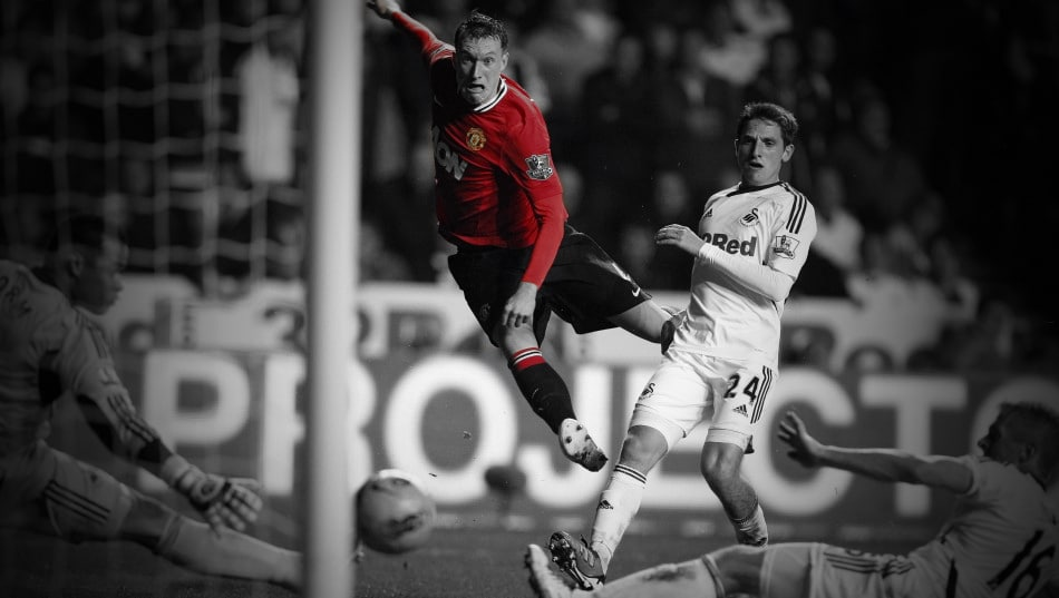 Phil Jones against Swansea City
