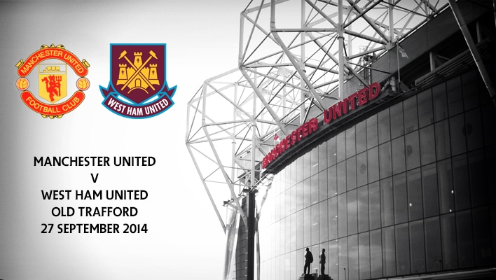 Manchester United v West Ham United, Old Trafford, 27 September 2014