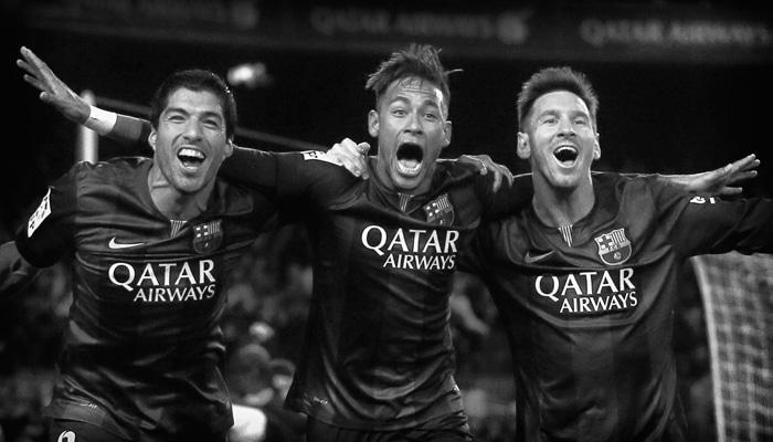 Barcelona, Suarez, Messi, Neymar