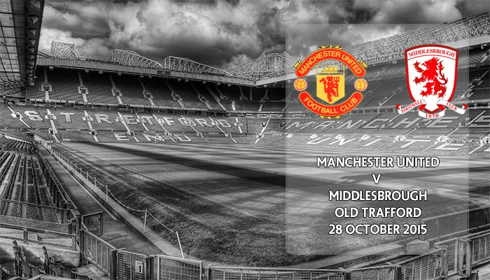 Manchester United v Middlesbrough, Capital One Cup, Old Trafford, 28 October 2015