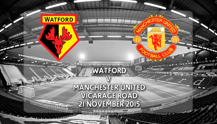 Watford v Manchester United, Vicarage Road, Premier League, 21 November 2015