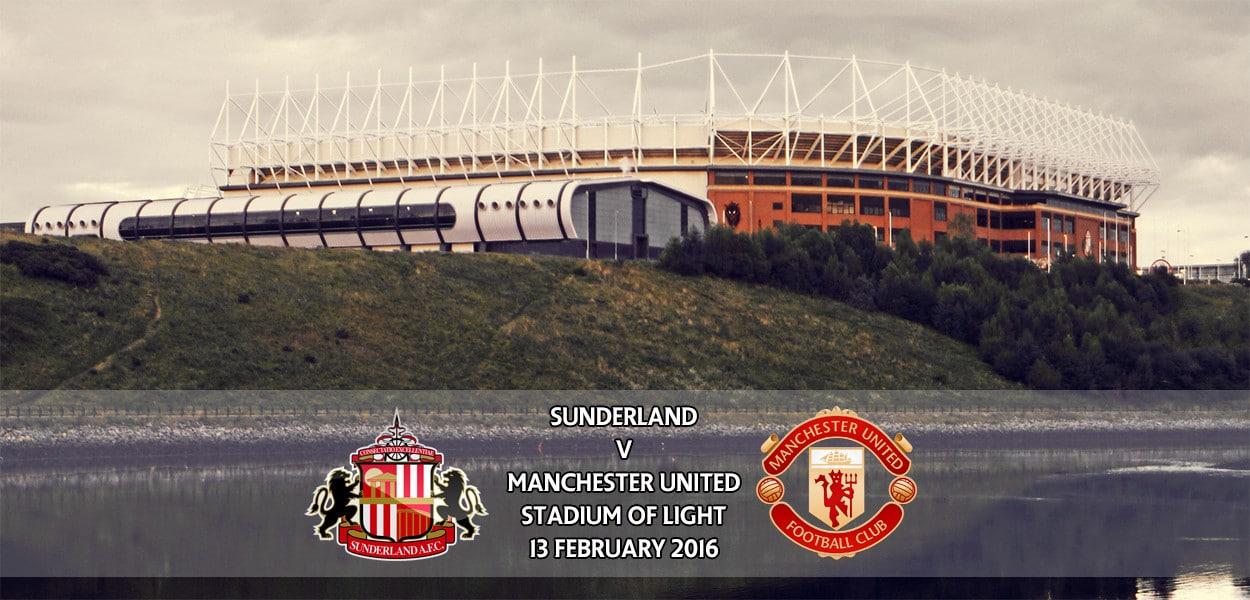 Sunderland v Manchester United, Premier League, Stadium of Light, 13 February 2016