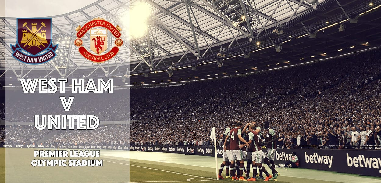 West Ham United v Manchester United, Olympic Stadium, Premier League, 2 January 2017